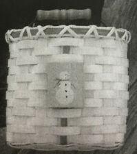Basket Weaving Pattern Snowman Wall Basket by Maurine Joy