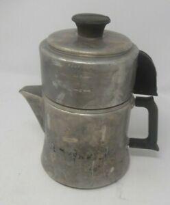 Mirror aluminum cowbow coffee pot - Black Handle Percolator 781M 10T