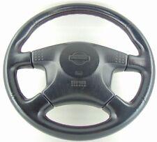 Genuine Nissan Skyline GTR R33 OEM Black leather steering wheel with airbag.  1B