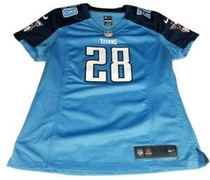 Chris Johnson Tennessee Titans Nike Women's Blue Jersey Size Medium