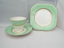 PALISSY/ROYAL WORCESTER ART DECO GILDED TRIO DATED 1936