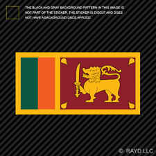 "4"" Sri Lankan Flag Sticker Decal Self Adhesive Vinyl Sri Lanka LKA LK"