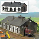 1423 Busch HO Kit of a Half-timbered Locomotive Shed - NEW