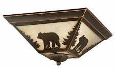 Yellowstone Bear Vaxcel Bozeman lighting light burnished bronze Lamp CC55714BBZ