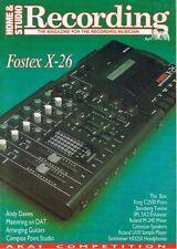 Fostex X-26, Roland M-24E Mixer, U110, KORG C2500,1989 Studio Recording Magazine
