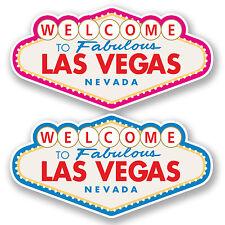 2 x Las Vegas Sign Vinyl Stickers iPad Laptop Car Suitcase Travel Labels #4812