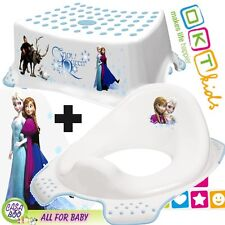 OKT BABY Toddler Toilet Training Seat & Step Stool Disney FROZEN anti-slip NEW