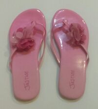 Justice Pink Flip Flops Flower Accent size 13