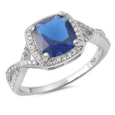 Unbranded Silver Plated Cocktail Sapphire Fashion Rings
