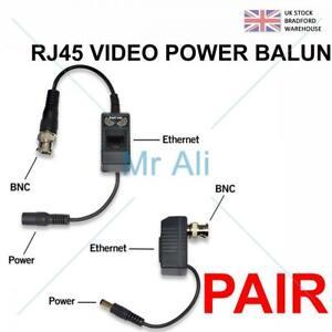 1-20 Pairs BNC To RJ45 Cat5e 6 Video Data Power Balun For HD CCTV PTZ Camera PVD