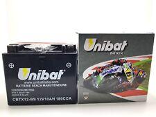 Batterie UNIBAT YTX12-BS 12V 10Ah PIAGGIO VESPA GTS 300 SUPER 4 ie 2009