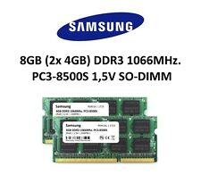 Samsung 8GB Dual Channel KIT (2x 4GB) DDR3 1066Mhz PC3-8500S SO Dimm 3rd Memory