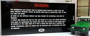 Land Rover Defender 90 110 Centre Differential Lock Warning Panel Plate BTR0179