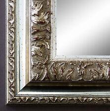 Toll Spiegel Wandspiegel Badspiegel Flur Antik Barock Prunkrahmen Rom Silber 6,5