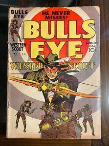 Bulls Eye: Western Scout #1 Jack Kirby Cover + Art - Mainline/Charlton 1954 - VG