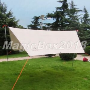 Tarp Beach Tent Canopy Ultralight 210T Silver Coated Anti UV Sun Shelter Roof