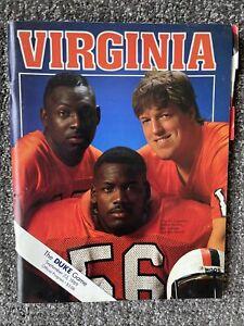 Vintage University Of Virginia UVA Football Program Vs DUKE 1989 80s Game Hoos