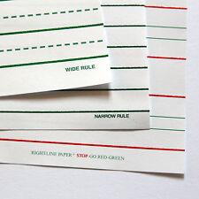 Raised line handwriting paper: Pk 25 right-line wide rule