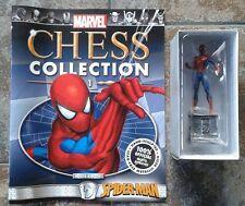 COLLEZIONE DI SCACCHI MARVEL #1 Spider-Man Cavaliere Bianco Figura Resina & Magazine