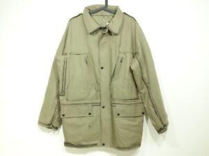 Auth LOUIS VUITTON Dark Green Cotton Polyurethane Mens Coat #50