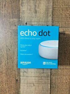Amazon Echo Dot 3rd Generation w/ Alexa - Bluetooth - White/Sandstone NEW! NIB