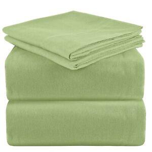 Mellanni 100% Cotton Flannel Sheet Set w/ Deep Pockets, Breathable & Warm 160GSM