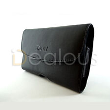 For Nokia Lumia 920 Premium Black Leather Holster Pouch Case Cover Belt Clip