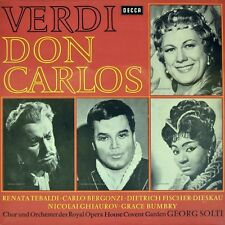 "7"" Verdi Don Carlos Renata Tebaldi/Grace Bumbry/Dietrich Fischer-Dieskau DECCA"