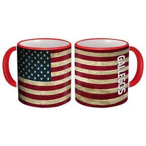 Gift Mug : GALLEGOS Family Name American Flag United States Personalized
