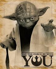 Star Wars Poster Yoda May the Force be with You, Mini Plakat Hochformat 40x50 cm