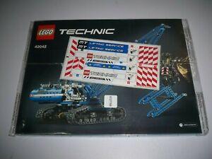 Lego Bauanleitung mit Sticker, 42042, Technic, Seilbagger**(A-6)