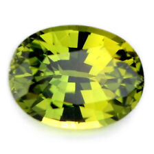 Flawless Certified Natural 0.82ct Unheated Green Sapphire Oval IF Clarity