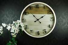 NEW Large 80cm Vintage Artisan Rustic French Provincial Wall Clock - 5084