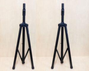 Haze Pair Speaker Stands Tripod Stage  Heavy Duty SS005