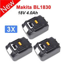 3 X 18 Volt 4.0Ah Battery For Makita BL1815 BL1840 BL1830 LXT Lithium-Ion 18V