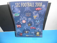 NCAA 2008 SEC FOOTBALL 12 ORIGINAL TEAM LOGO'S MEDIA GUIDE