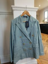 Ralph Lauren Polo ladies sz 6 doublebreasted oversize blue blazer BNWT, RRP £349