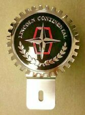 NEW Lincoln Continental License Plate Topper - Chromed Brass - Great gift item!