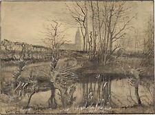 Van Gogh Drawings: The Kingfisher - Fine Art Print