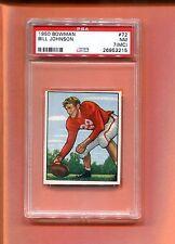 1950 BOWMAN BILL JOHNSON #72 PSA 7 MC SAN FRANCISCO 49'ERS FRESH MUST SEE