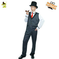 Men's Gangster Costume Happy Party Gang Cosplay Halloween Party Fancy Dress