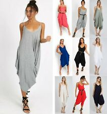 Women's Ladies Cami Strappy Ali Baba Harem Romper Baggy Oversize Jumpsuit New