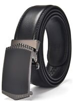 QHA Mens Automatic Leather Belt Ratchet Designer Buckle