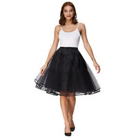 Women's Vintage Dress 3 Layers Tulle Voile Netting Petticoat Crinoline Skirt