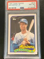 1989 Topps Traded Ken Griffey Jr #41T Rookie PSA 8
