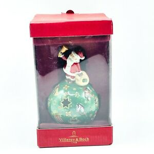 "Villeroy & Boch Candle Tealight Holder Porcelain Christmas Santa Decor 5"" NEW"