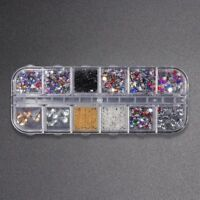 3D DIY Nail Art Rhinestones Many Shape Glass Colorful Stone Manicure Decorations