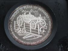 1973 Netherlands Antilles 25th Anniversary 25 Guilder Silver Proof Coin