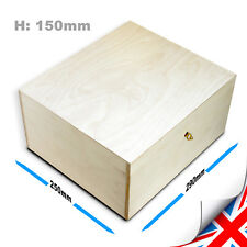 Wooden Box Locked, Box for Documents, Post Mailbox, Wedding Cards, With Key x1