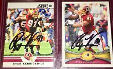 Ryan Kerrigan #91 Washington Redskins NFL LB auto autograph football card LOT X2